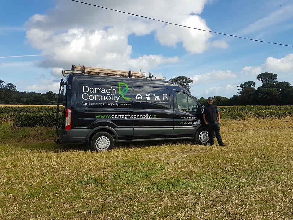 Darragh Connolly with his Garden Care van